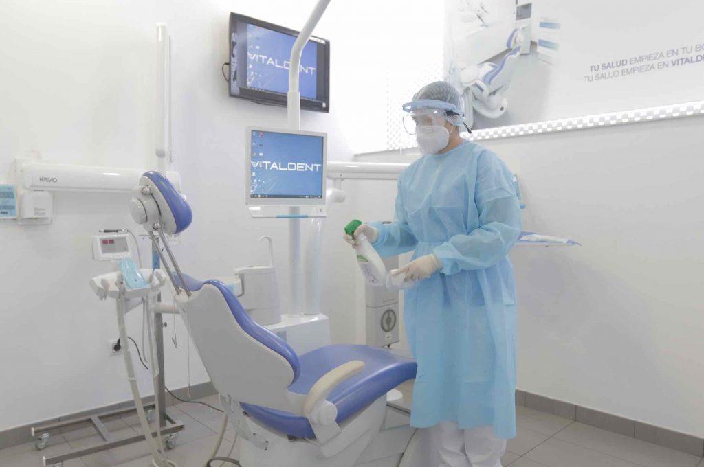 Desinfección de la clínica dental