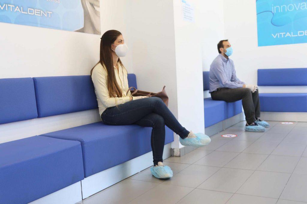 Sala de espera en clínica dental